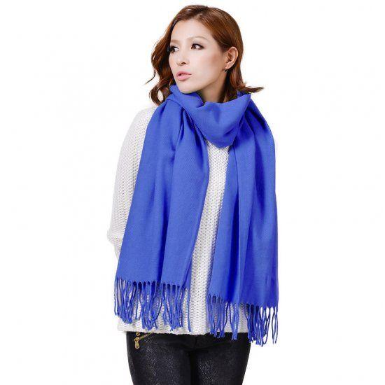Solid Color Shawl AZ19-16 Blue