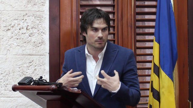 Ian Somerhalder deliver his speech in Barbados as he is designated UNEP Goodwill Ambassador on World Environment Day. For more information www.unep.org/wed or www.unep.org/gwa
