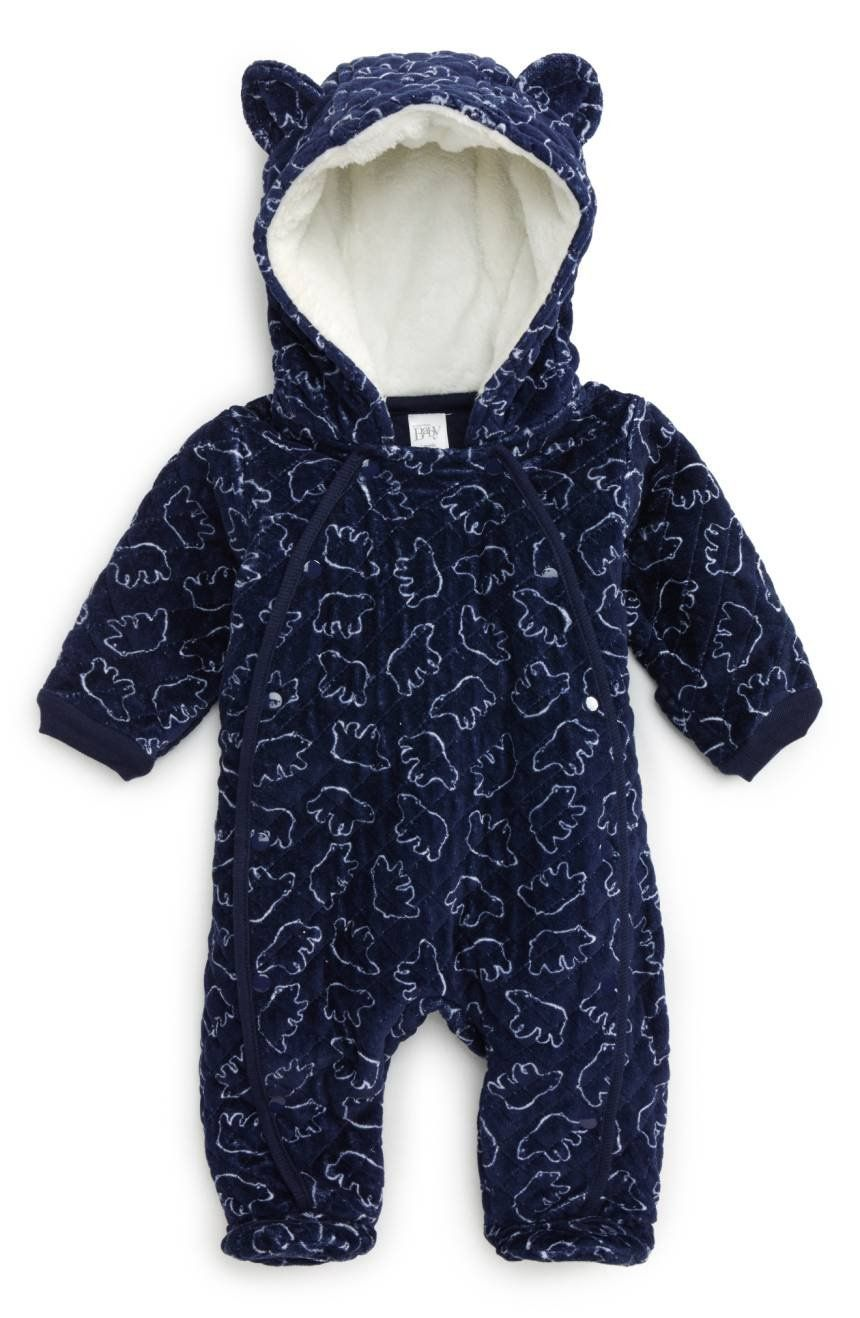 eb3804680ab2 A cozy hood topped with animal ears provides an adorable finishing ...