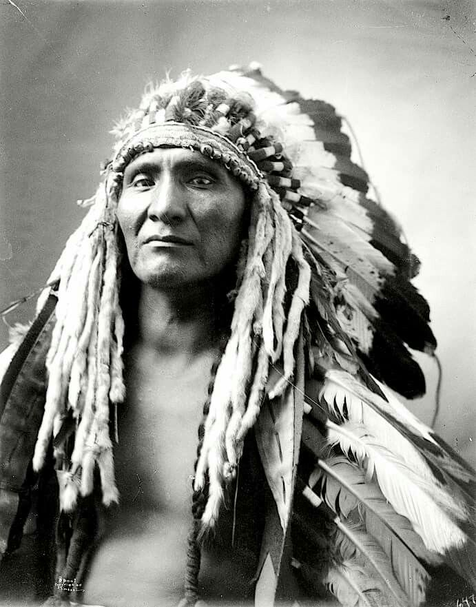Spool. Crow? 1905. Photo by Richard Throssel. Source - University of Wyoming, American Heritage Center.