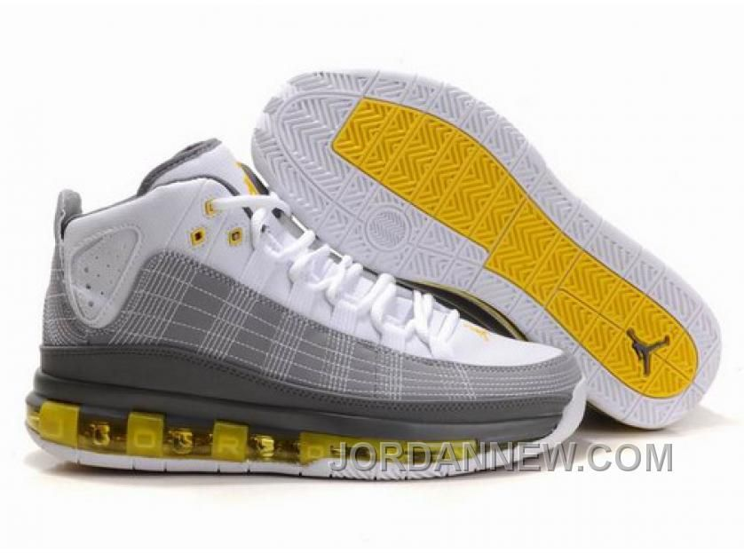 Nike Air Jordan Take Flight White/Grey/Yellow Shoes For Men