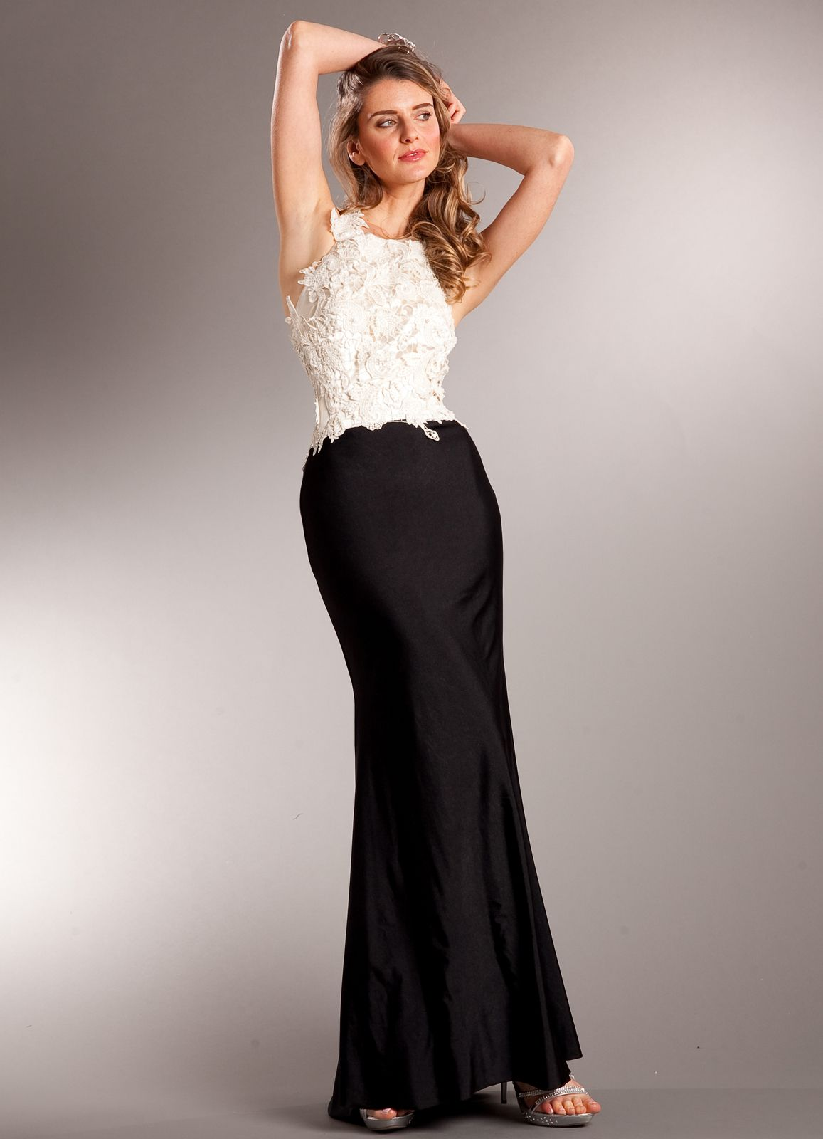 Elegant Classic Two-tone Evening Dress from Sung Boutique Los ...