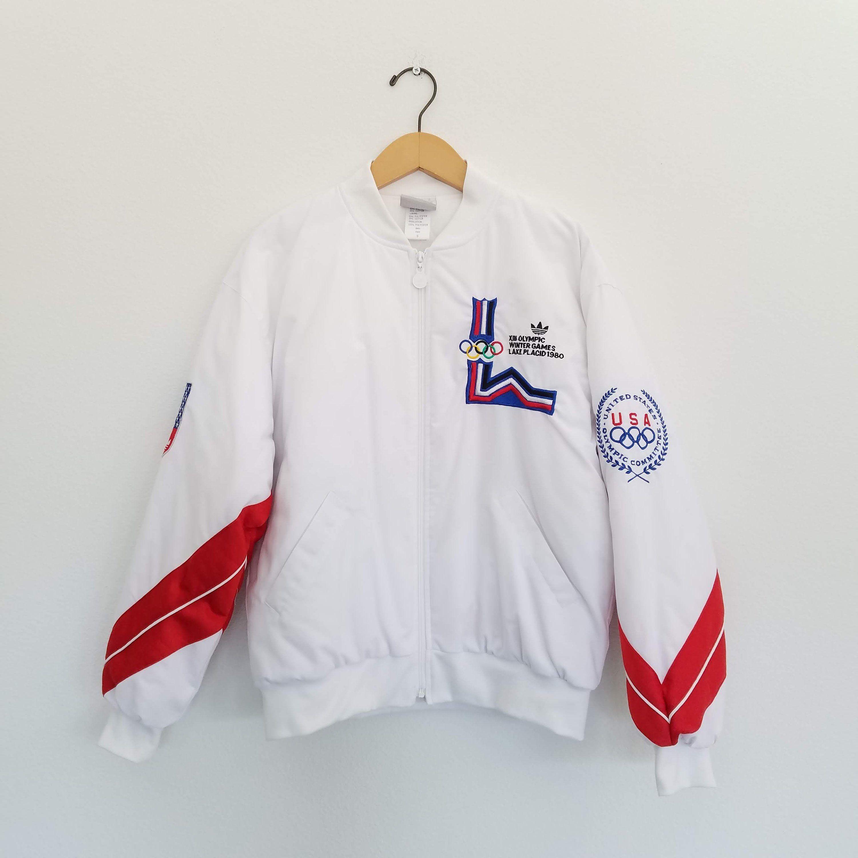 Vintage 1980 Lake Placid Winter Olympics Adidas Jacket