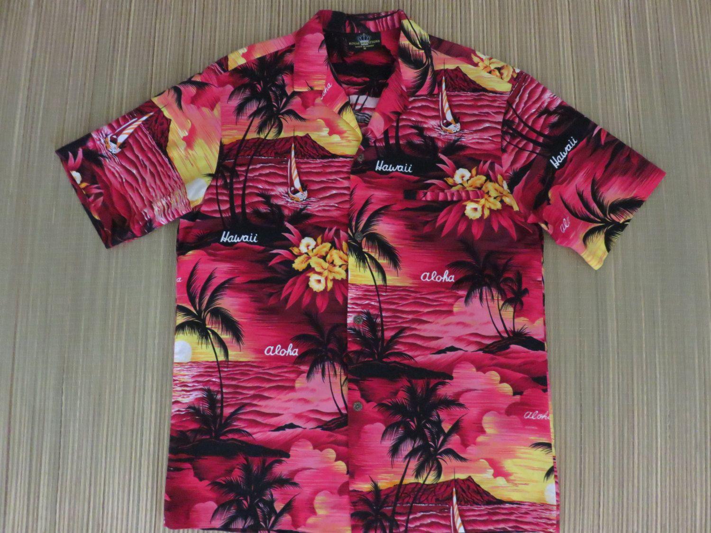 65ca3e01 Vintage Hawaiian Shirt 80s ROYAL CREATIONS Hawaiian Sunset Aloha Shirt  Mens- M - Oahu Lew's Shirt Shack by OahuLewsShirtShack on Etsy