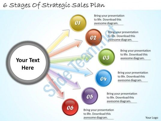 1113 business ppt diagram 6 stages of strategic sales plan ...