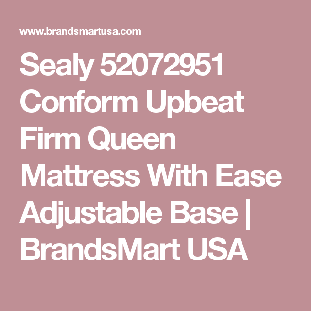 Sealy 52072951 Conform Upbeat Firm Queen Mattress With Ease ...
