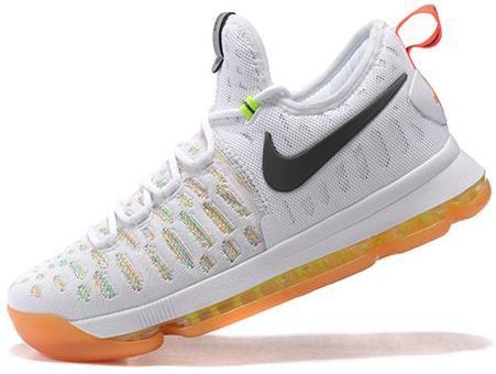 6a5049501016 Nike Zoom KD 9 Lmtd EP Mens Basketball shoes White rainbow3