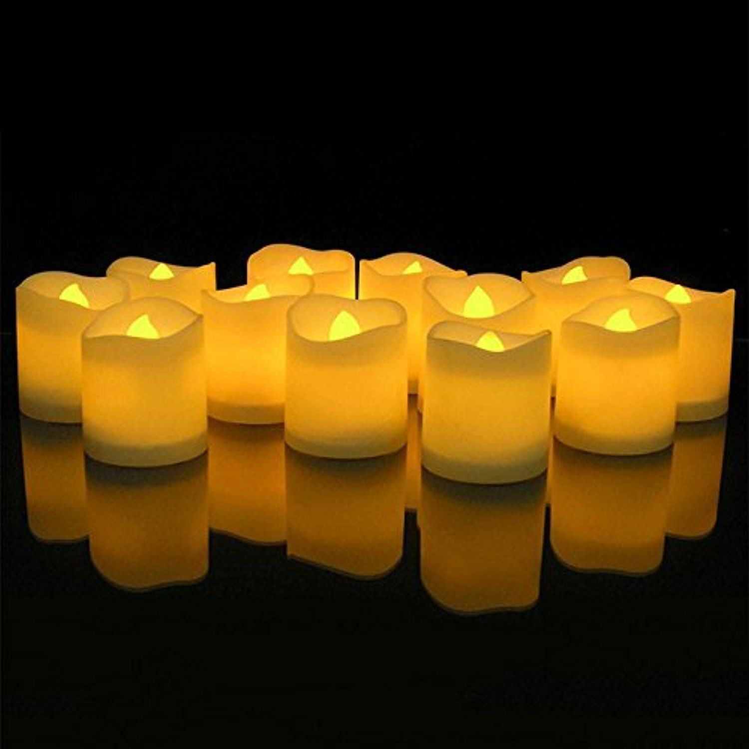 Led Electronic Candle Lampasdomo Flameless Tea Light Candles For Wedding Birthday Home Party Christmas Halloween Decoration 24pcs Check Out