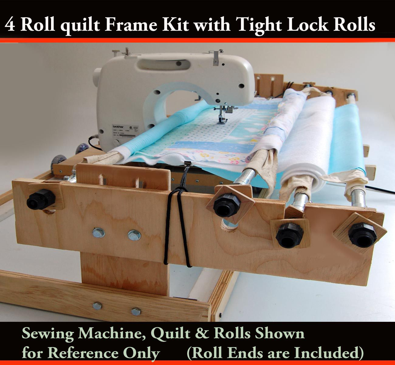 Track & Carriage 4 Roll Quilt Frame Kit 9\