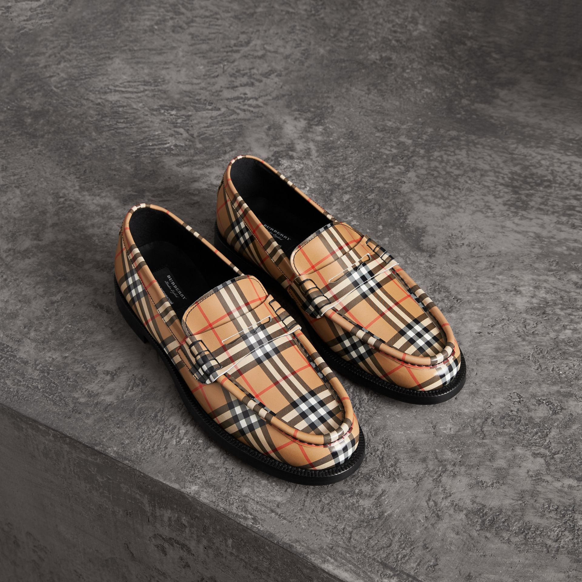 818cae171 BURBERRY Gosha x Burberry Check Leather Loafers.  burberry  shoes ...
