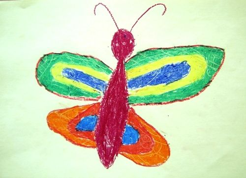 Butterflies, art lesson for 6 year olds