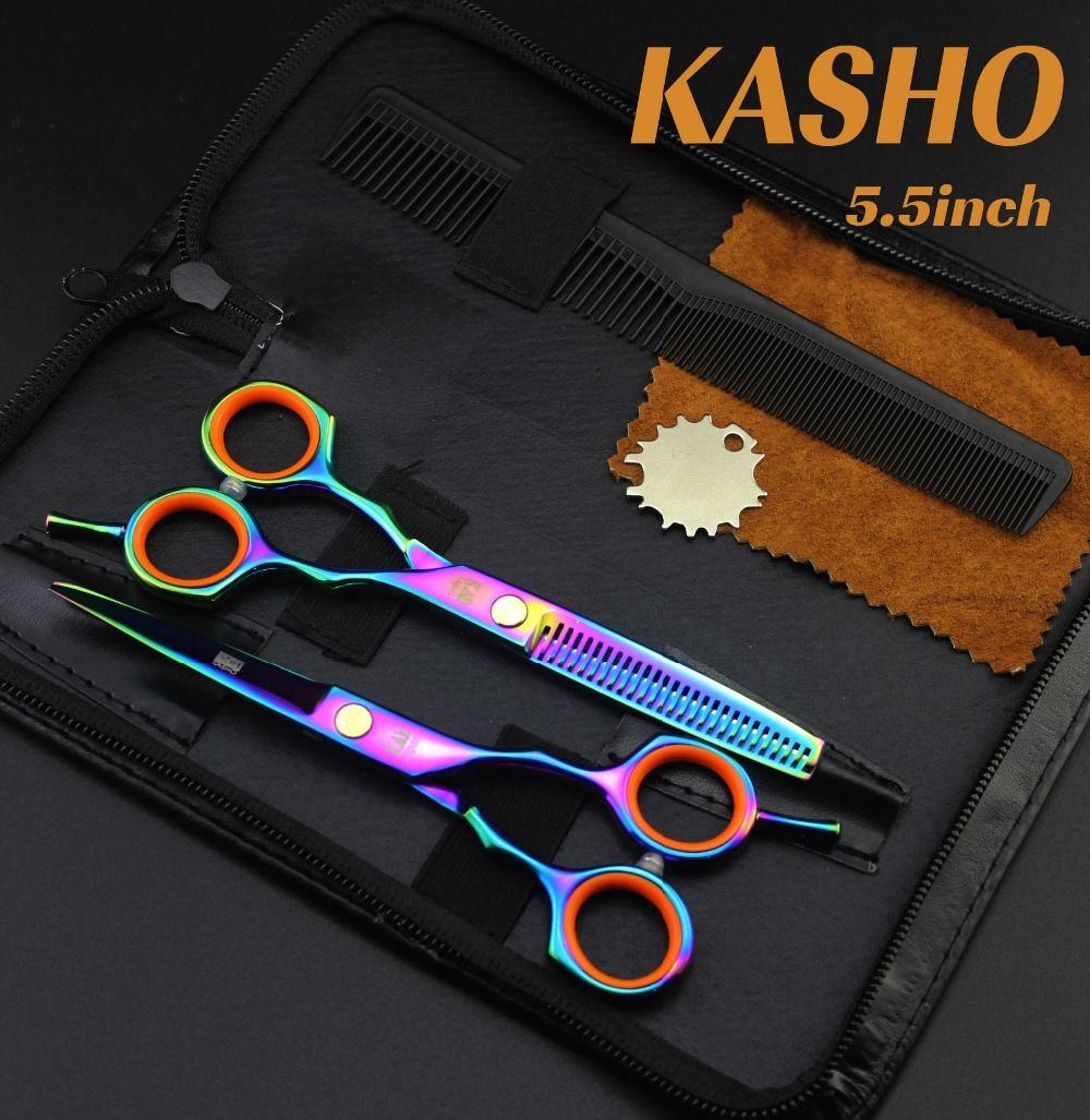 2016 nowy kasho 5.5 calowy zestaw nożyczek fryzjerskich