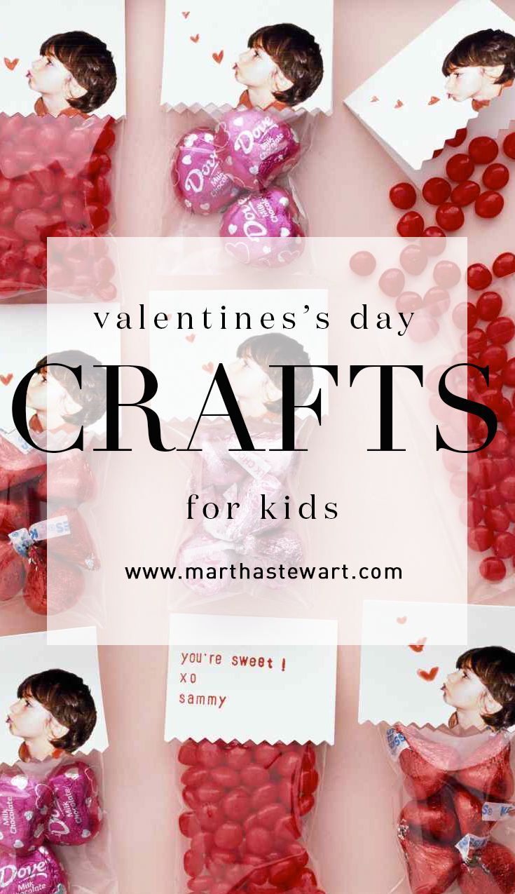 Valentine S Day Crafts For Kids Pinterest Cellophane Bags