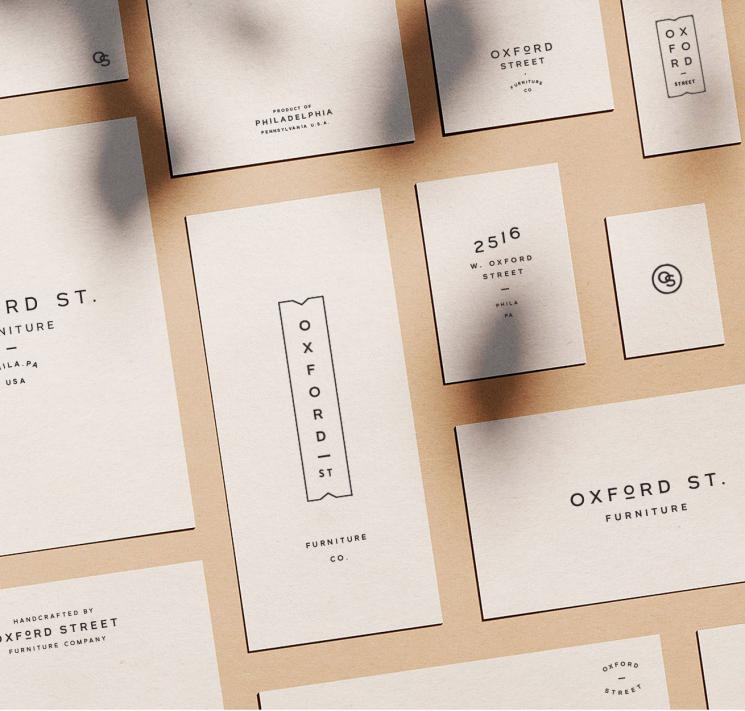 Oxford Street Furniture Business Card Business Card Design Inspiration Branding Design Inspiration Business Card Inspiration Business Card Design