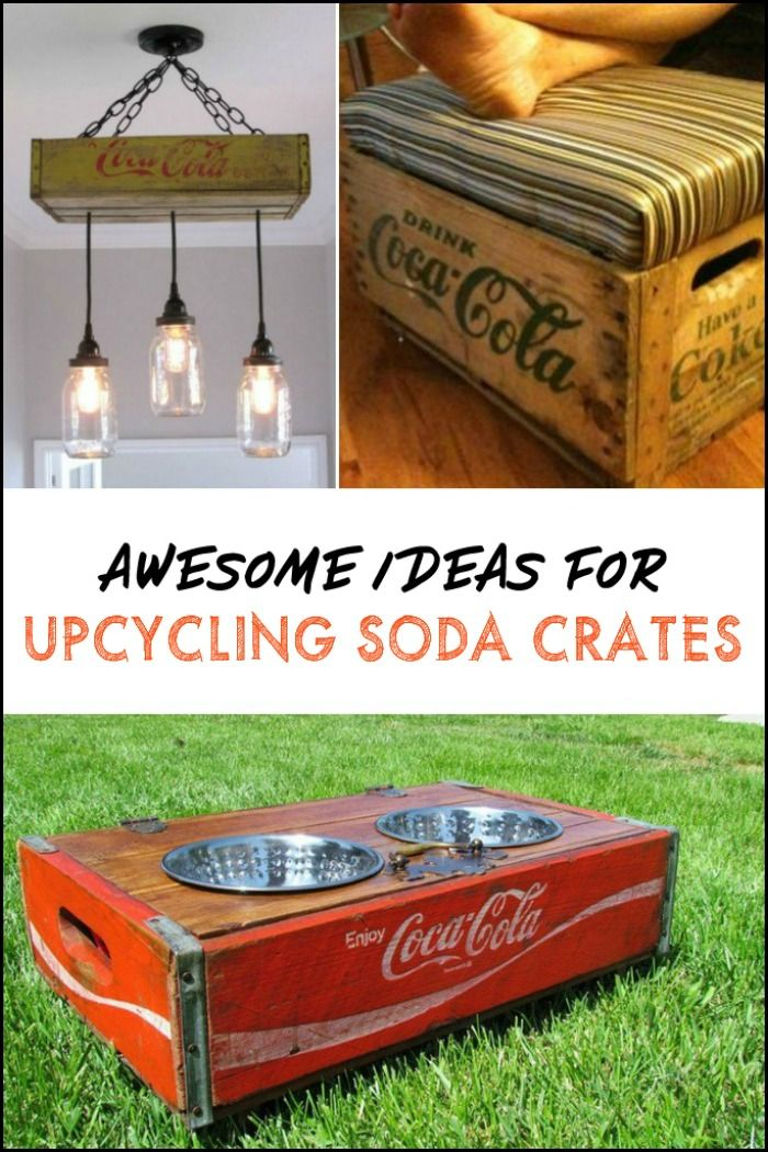 Upcycled Soda Crate Projects Crate Diy Coke Crate Ideas Old