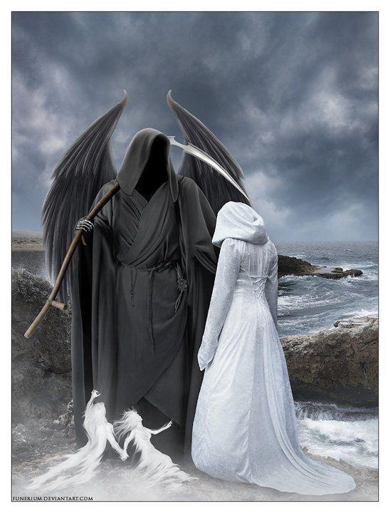 The dark shadow and the brilliant Highlight..... the dark man and the angel Das Schwarze das mit d Bösen immer in Verbindung gebracht wird u das reine weiße unschuldig sich nicht wehren kann/ist d Vorstellung vieler Menschen deshalb sind Hochzeiten auch in weiß... ( ? ) Gäbe es d eine Seite nicht gäbs die andere auch nicht /schwarz ist nicht böse/weiß ist nicht gut d weiß jeder Schachspieler.... Tag & Nacht nichts ist schlechter o besser aber die Phantasie d.Menschen/ Aberglaube machtz aus.