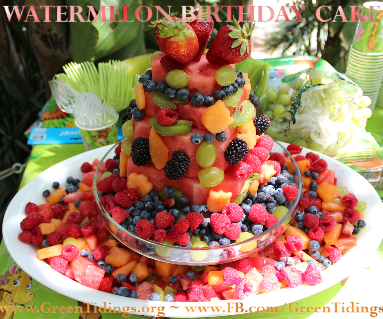 Fruit Birthday Cake Fresh Watermelon