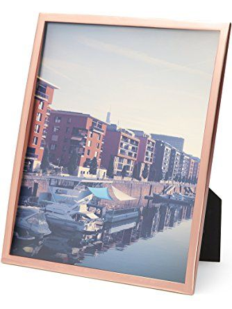 Umbra Senza Metal Picture Frame 8 By 10 Inch Copper Umbra Metal Picture Frames Frame Picture Display