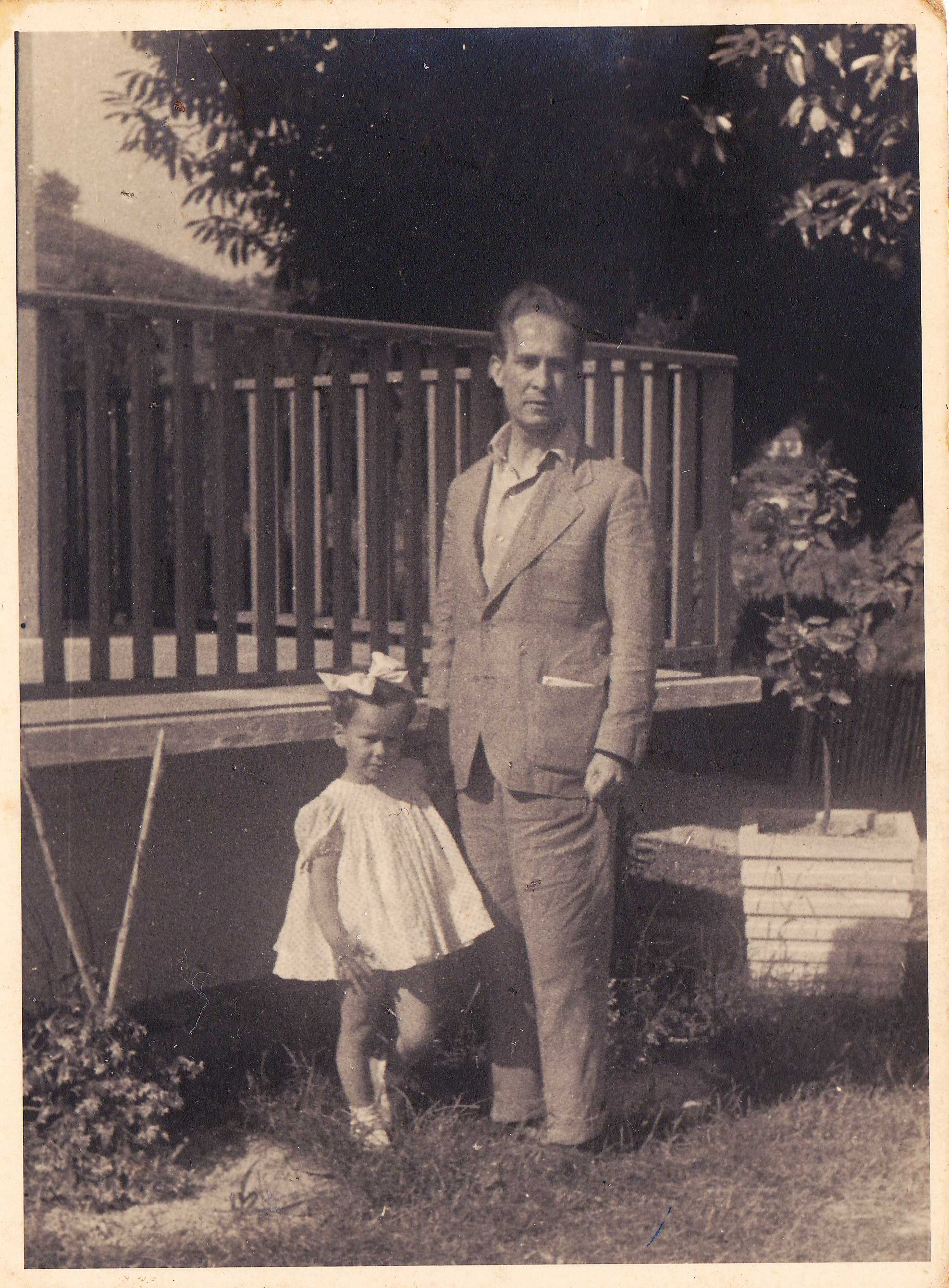 Franco Antonicelli con la figlia Patrizia