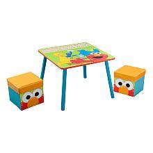 Sesame Street Table and Ottoman Set