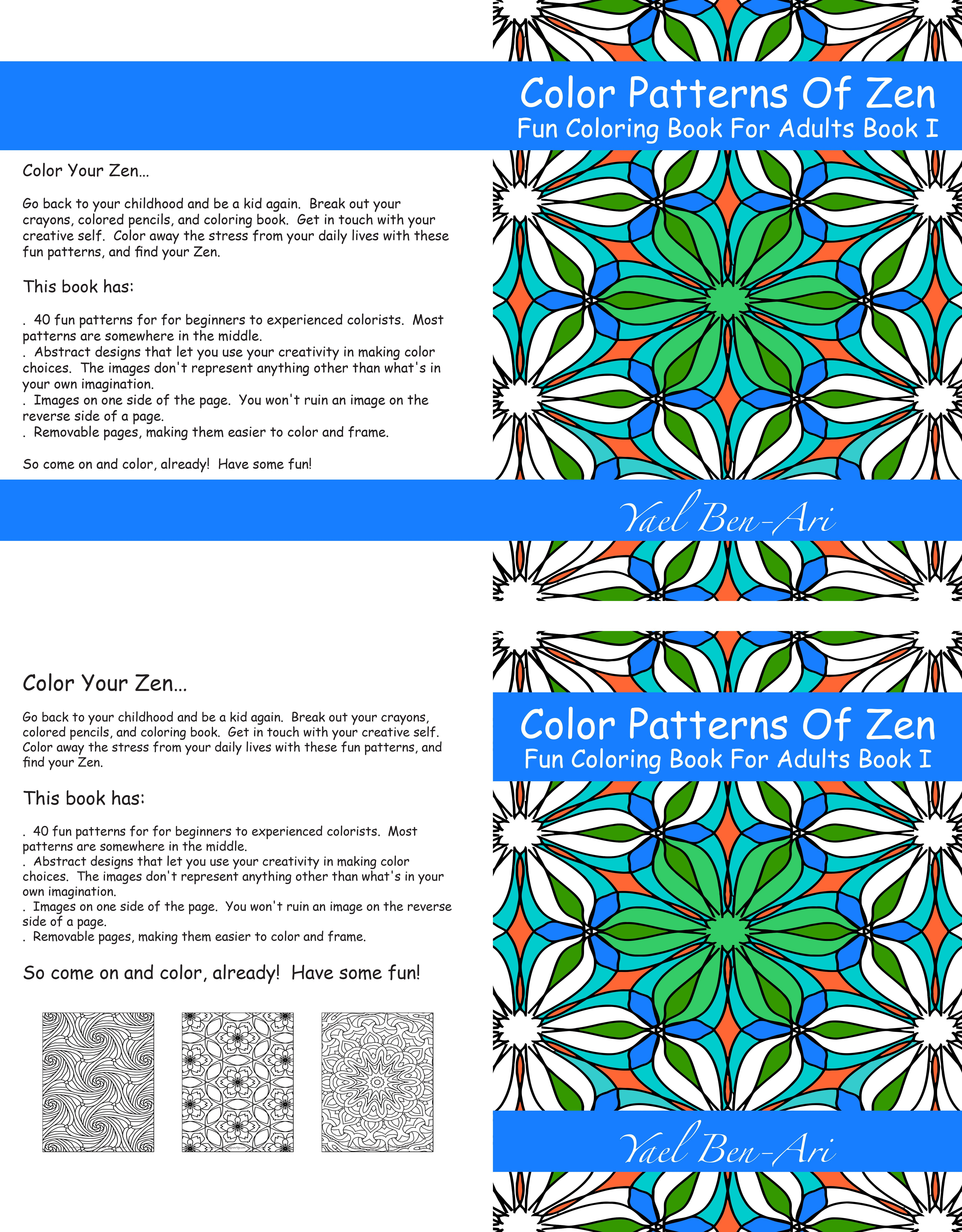 i am getting close to being ready to publish i only need to decide on a book cover here are the two i am trying to decide between - Publish Your Own Coloring Book