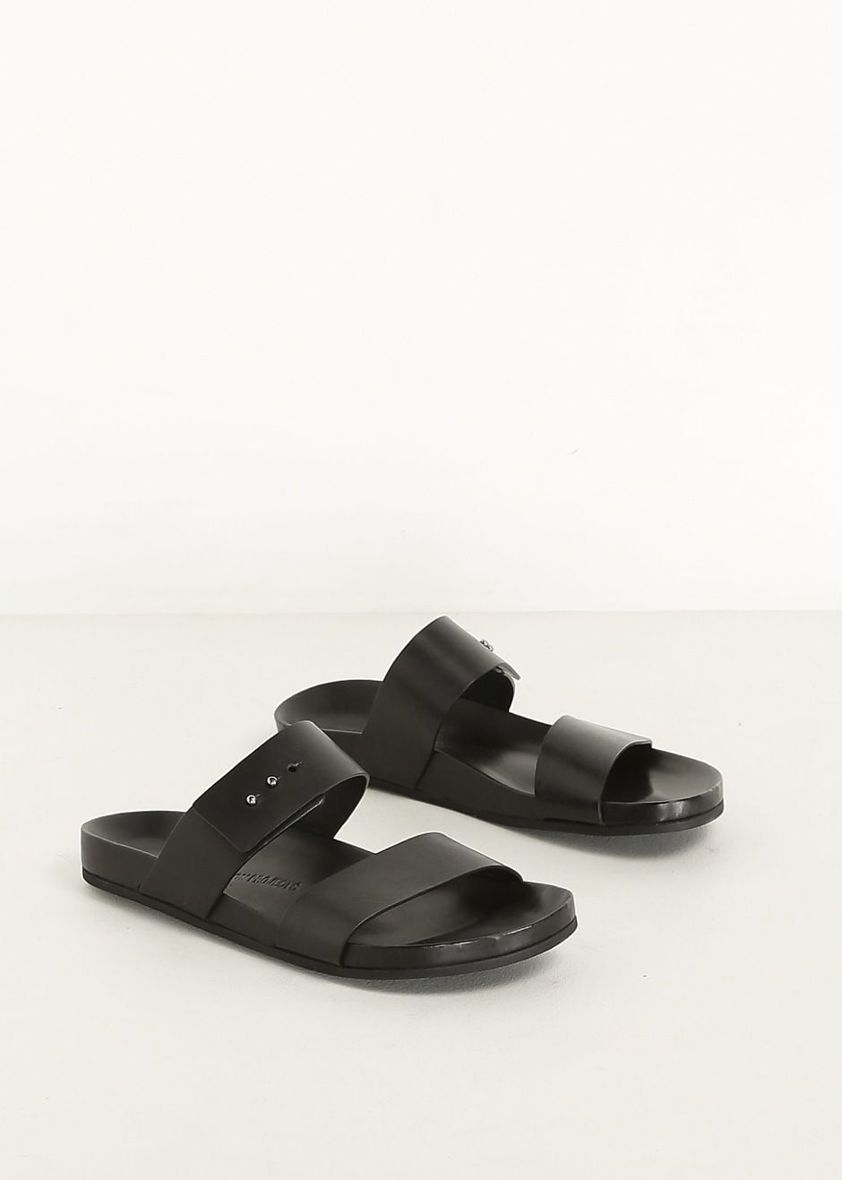 9ad0ec92d Woman by Common Projects Double Strap Sandal (Black)