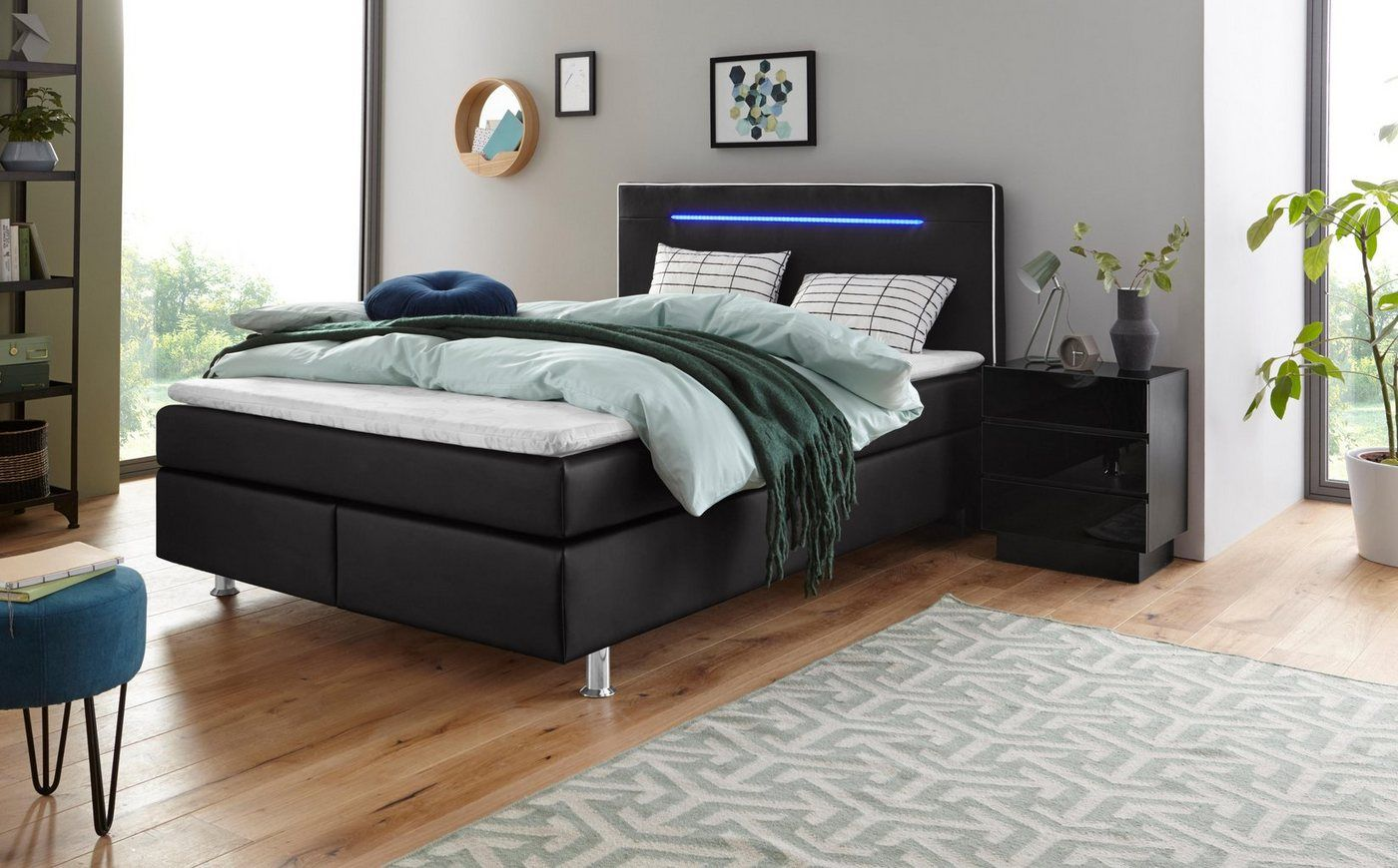 Collection Ab Boxspringbett Inkl Led Beleuchtung Topper Und