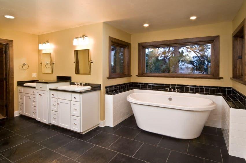 55 Craftsman Style Primary Bathroom Ideas Photos Marble Bathroom Designs Bathroom Photos Bathroom Floor Plans