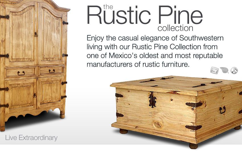 Buy 1 Get 1 at 20 OFF our Rustic Pine Furniture Collection