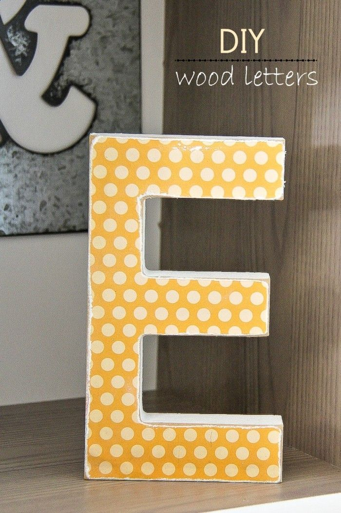 Home Decor: How to make DIY Wood Letters with Mod Podge and ...