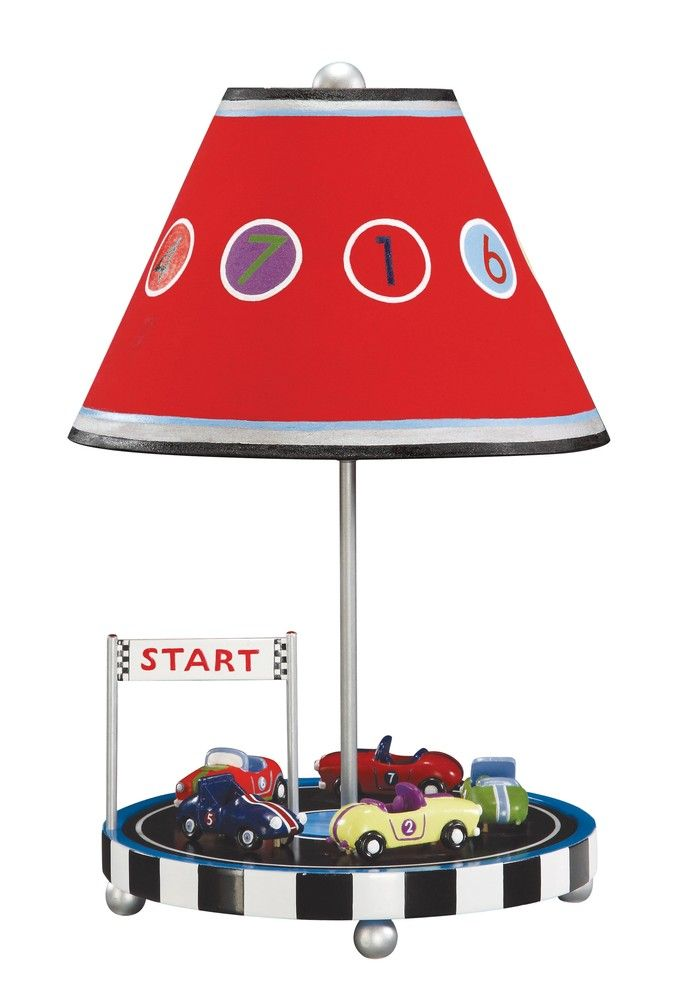 Race Car Lamp Kids Lamps Table Lamp Childrens Lamps
