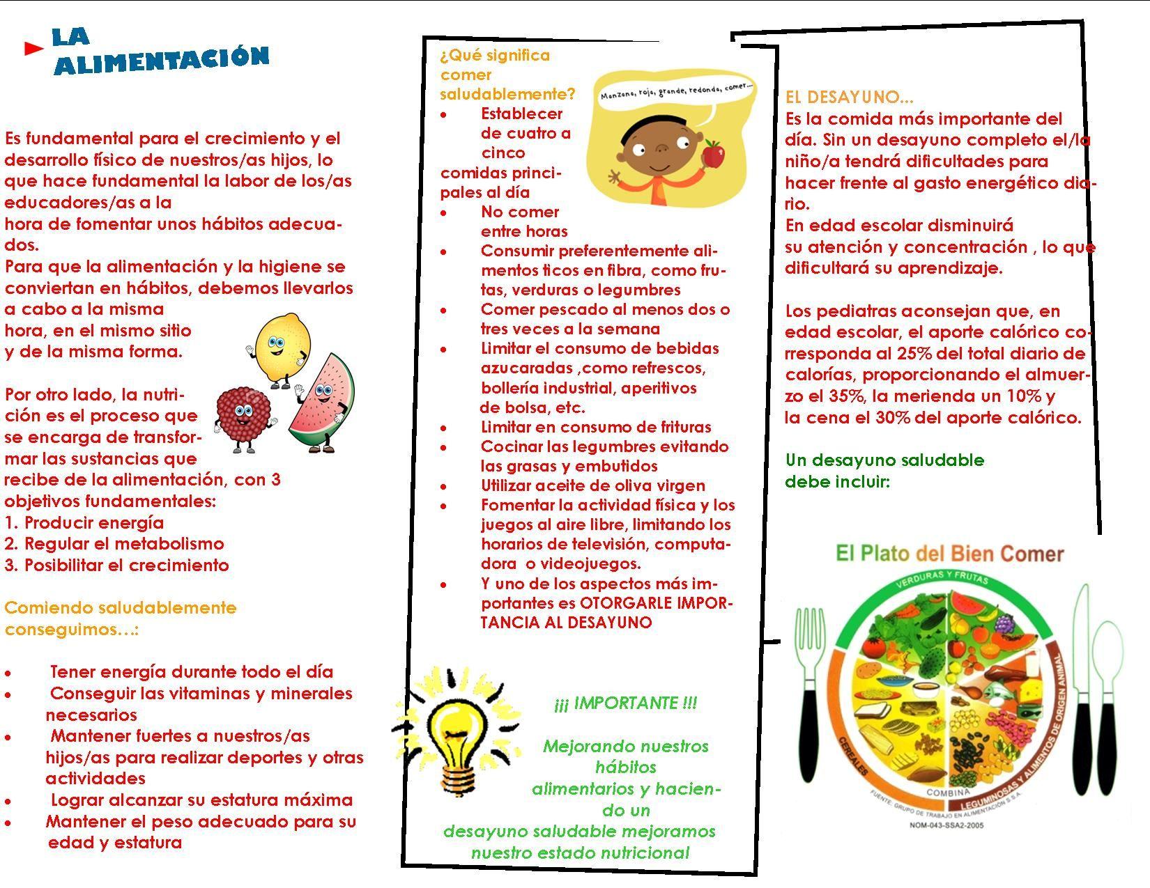 tripticos sobre alimentacion sana en los niños - Buscar con Google ...