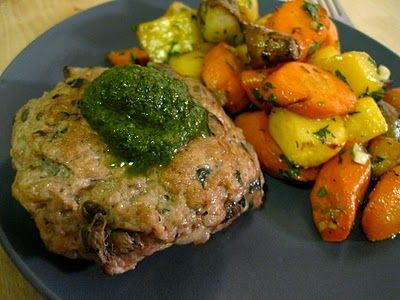 Caper and Shallot Turkey Burgers with Basil Pesto (gluten free, ACD-friendly) - Affairs of Living