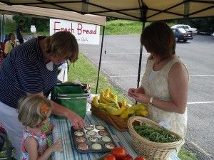 Come down to the New Market Farmers Market to shop for local produce every Friday evening.  The market offers candies, baked goods, gluten free goodies, granola, eggs, fruits & veggies, chicken, beef and handcrafted items.