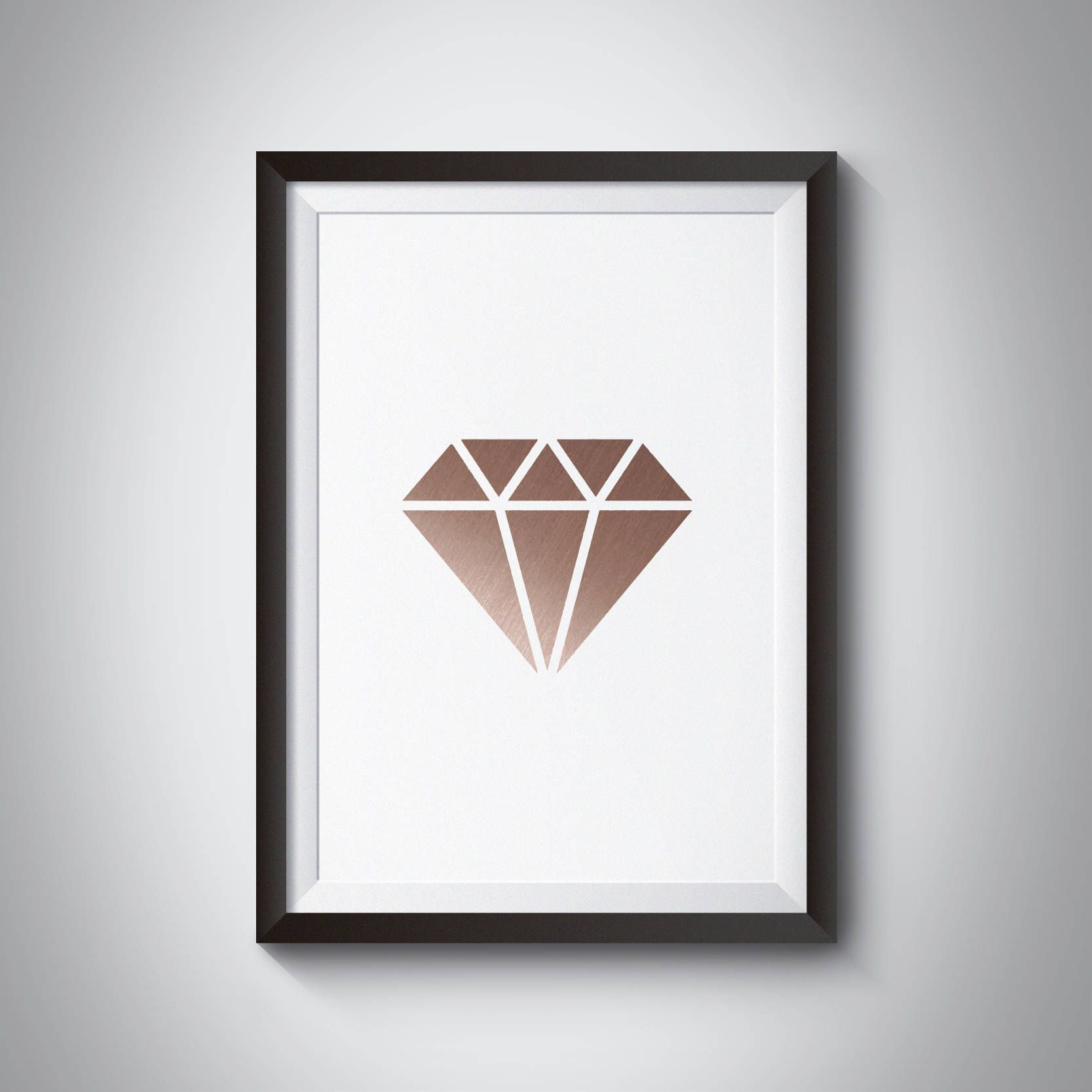 Diamond Print Rose Gold Print Geometric Print Copper Print Minimalist art & Diamond Print Rose Gold Print Geometric Print Copper Print ...