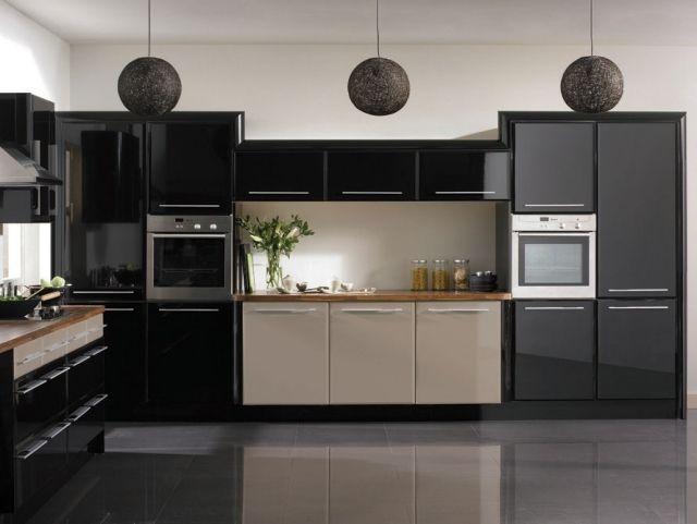 Cuisine noire - 28 idées de design contemporain formidable ...