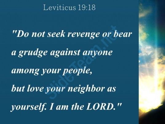 leviticus 19 18 love your neighbor as yourself powerpoint church
