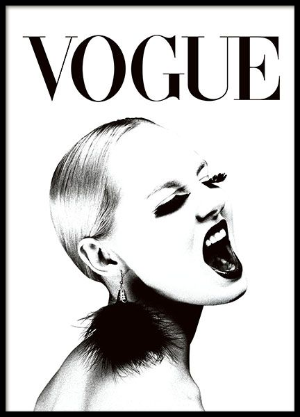 Trendy Vogue Poster In Black And White Super Stylish Combined With Any Of Our Other Text Posters Fashion Quotes Or Perhaps One Many Chanel