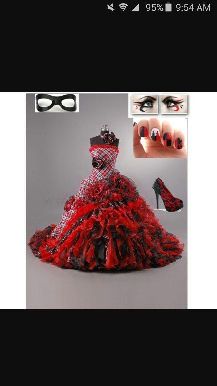 Medium Crop Of Harley Quinn Wedding Dress