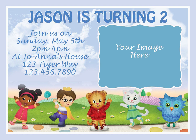 Blue or Pink Daniel Tiger Birthday Invitation by TheGalaEmporium, $15.00