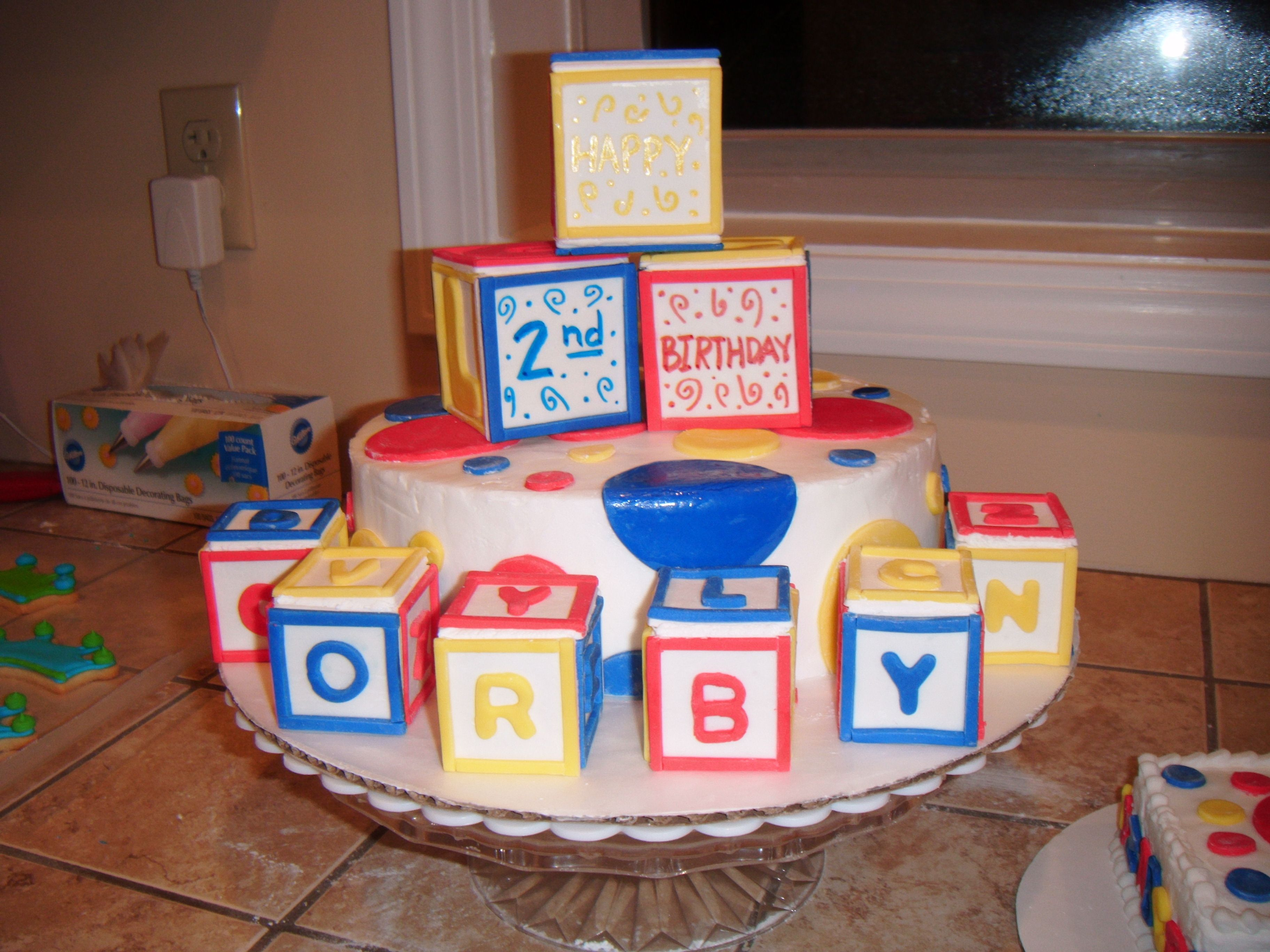 ABC block cake I made for Suzanne Baker