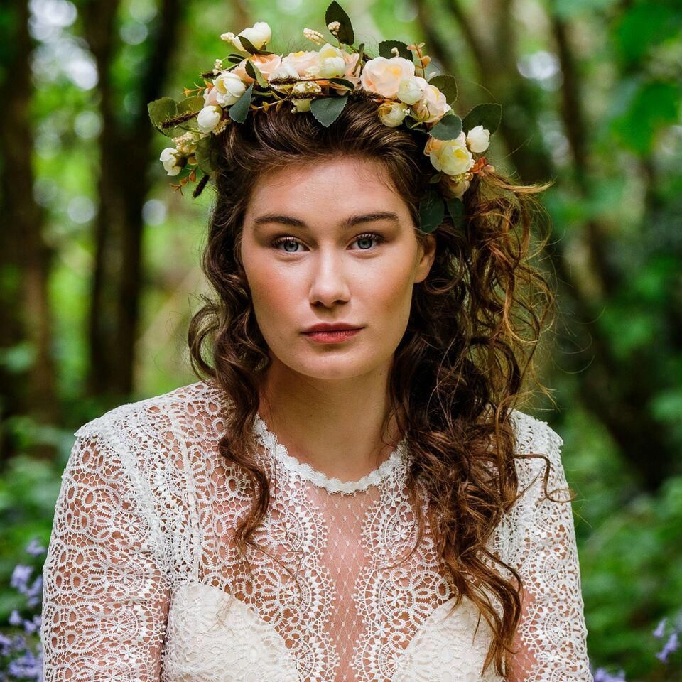 The most enchanting half up half down hairstyle with our ...