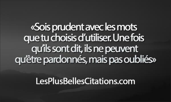 Citation : Les Mots | Les Plus Belles Citations: Collection des