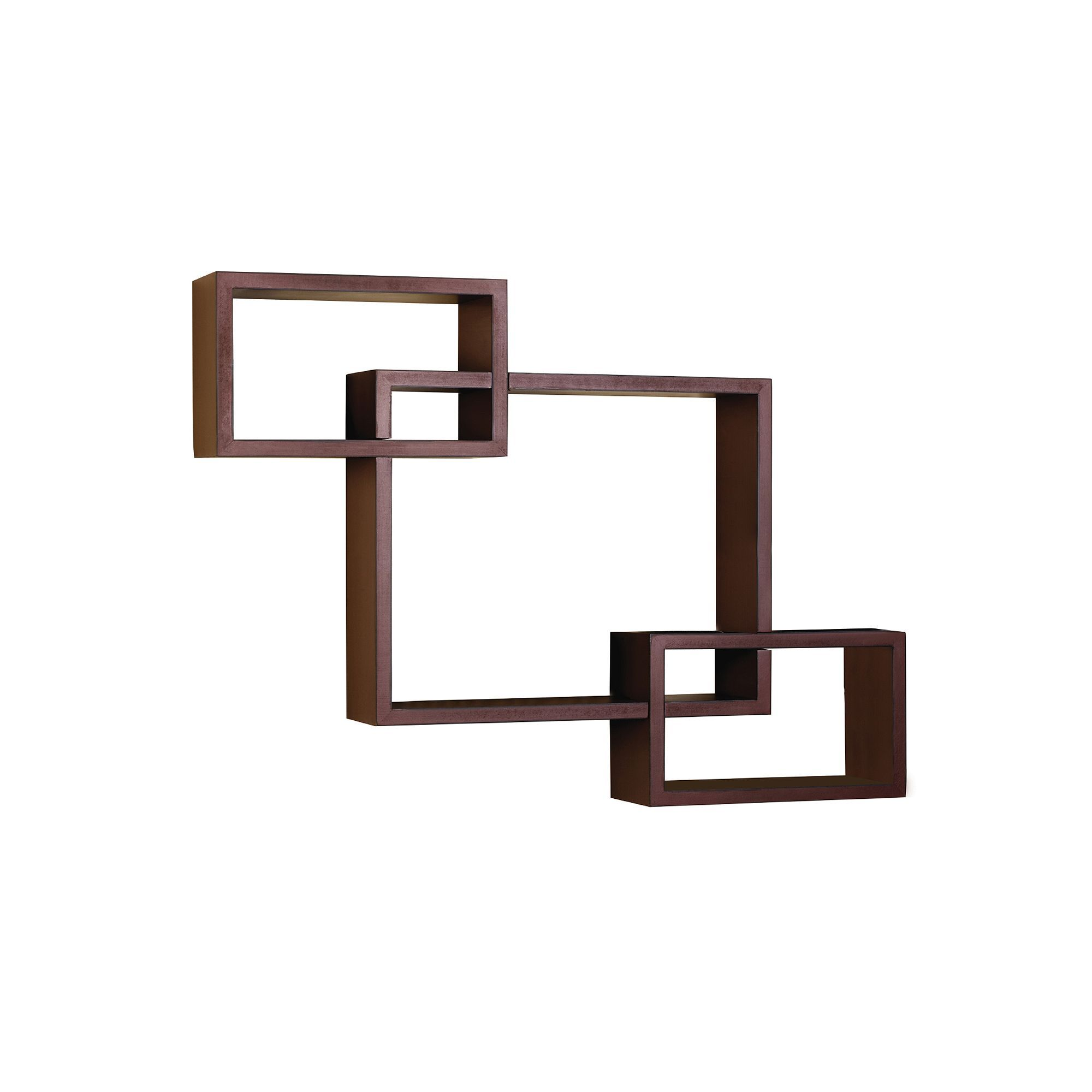 Melannco Floating Shelves Melannco 3Piece Interlocking Cube Wall Shelves Set Red  Products