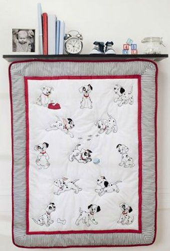 Amazon Com Disney 101 Dalmatians 4 Piece Crib Bedding Set Baby Disney Baby Nurseries Disney Nursery Boy Baby Bedding Sets