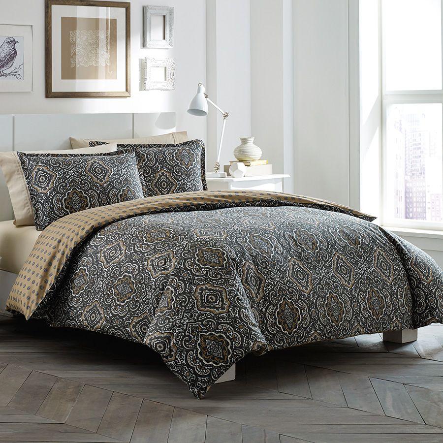 City Scene Milan Chocolate Duvet Set From Beddingstyle Com Comforter Sets Bedding Sets Duvet Sets