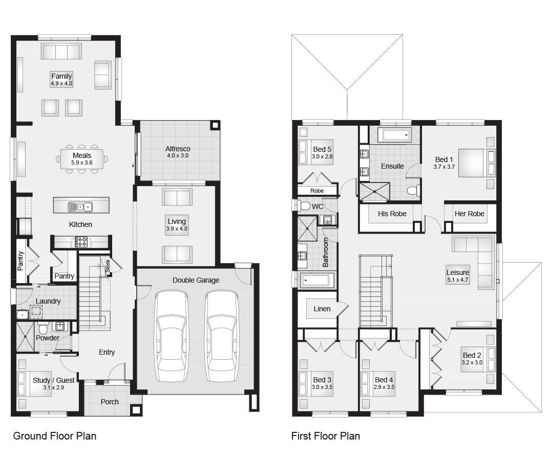 Fairmont 35 || Floor Plan - 328.90sqm, 12.20m width, 18.80m depth ...