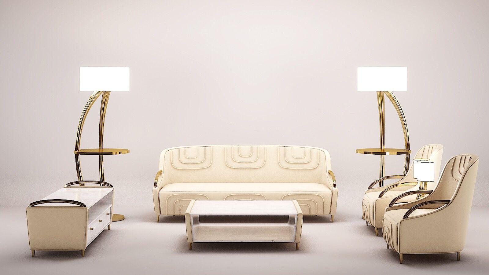 Luxury Living Room by Fertini Casa. Sideboard