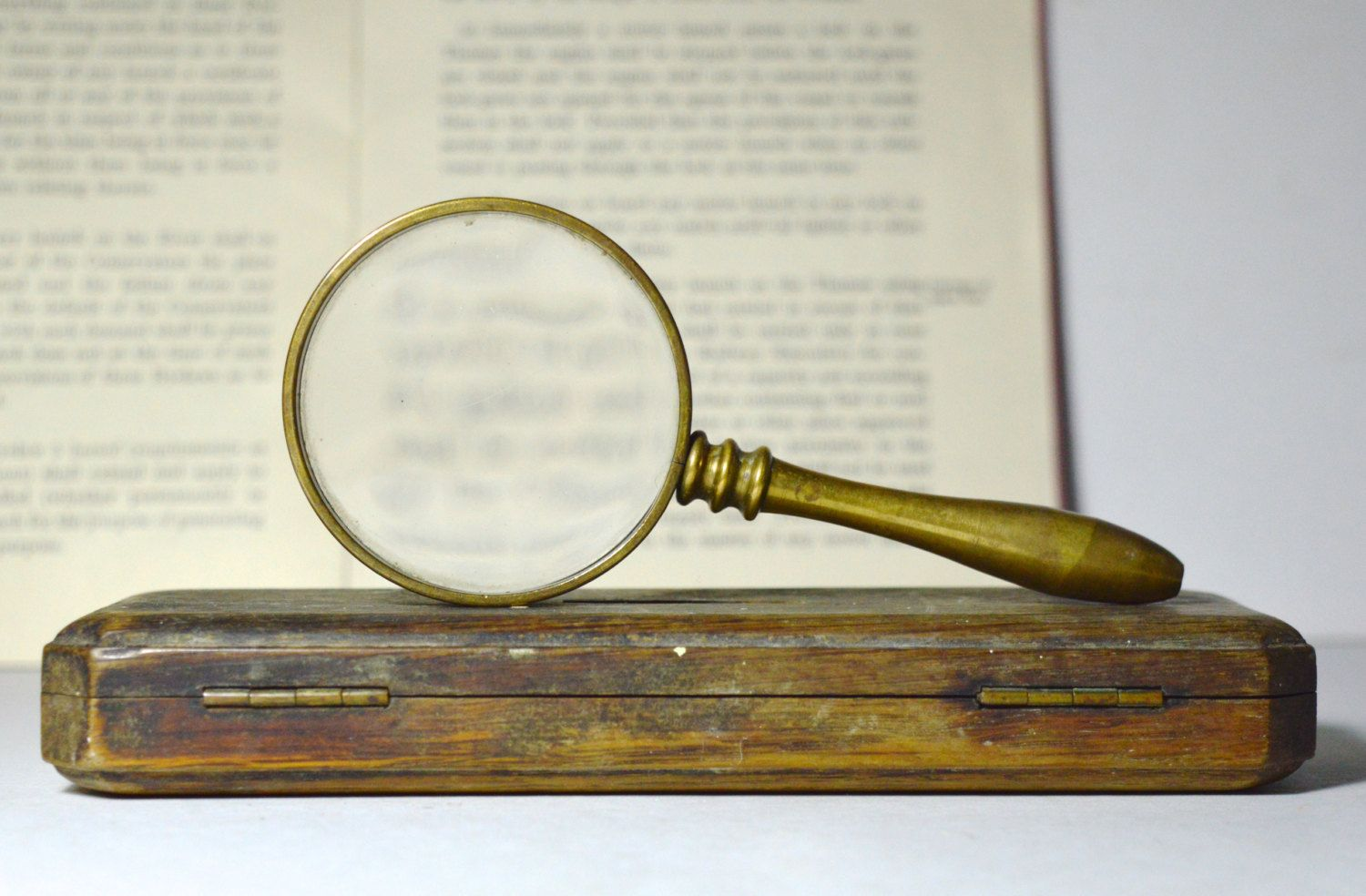 Vintage Magnifying Glass Brass Magnifying Glass Hand Magnifying