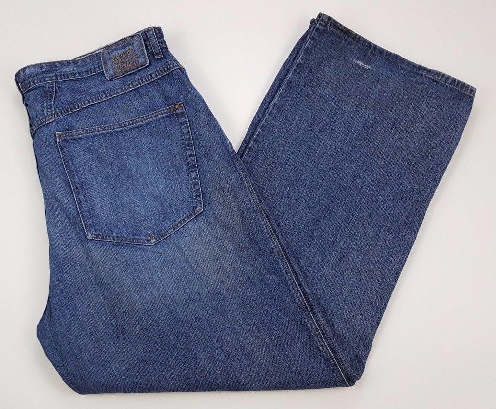 MARITHE Francois GIRBAUD Jeans 41 34 BLUE Denim SIZE Loose DISTRESSED Mens  JEAN*